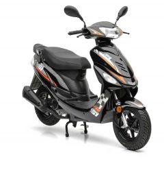 Sportmotorroller Nova Motors Energy Automatik  2-Taktmotor Mofa-Version in schwarz-orange
