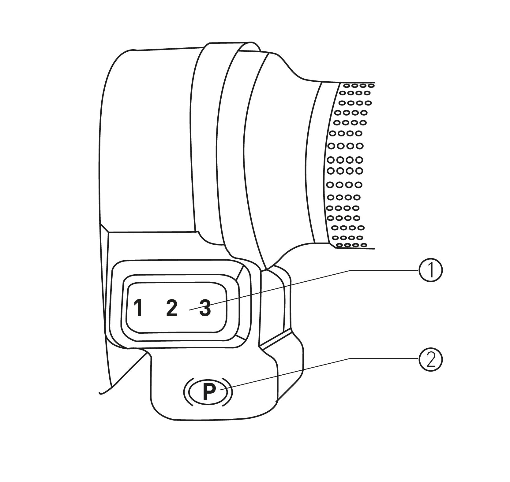 Rechte Startknopf-Armaturen des S6 max Elektro-Motorrollers von Nova Motors