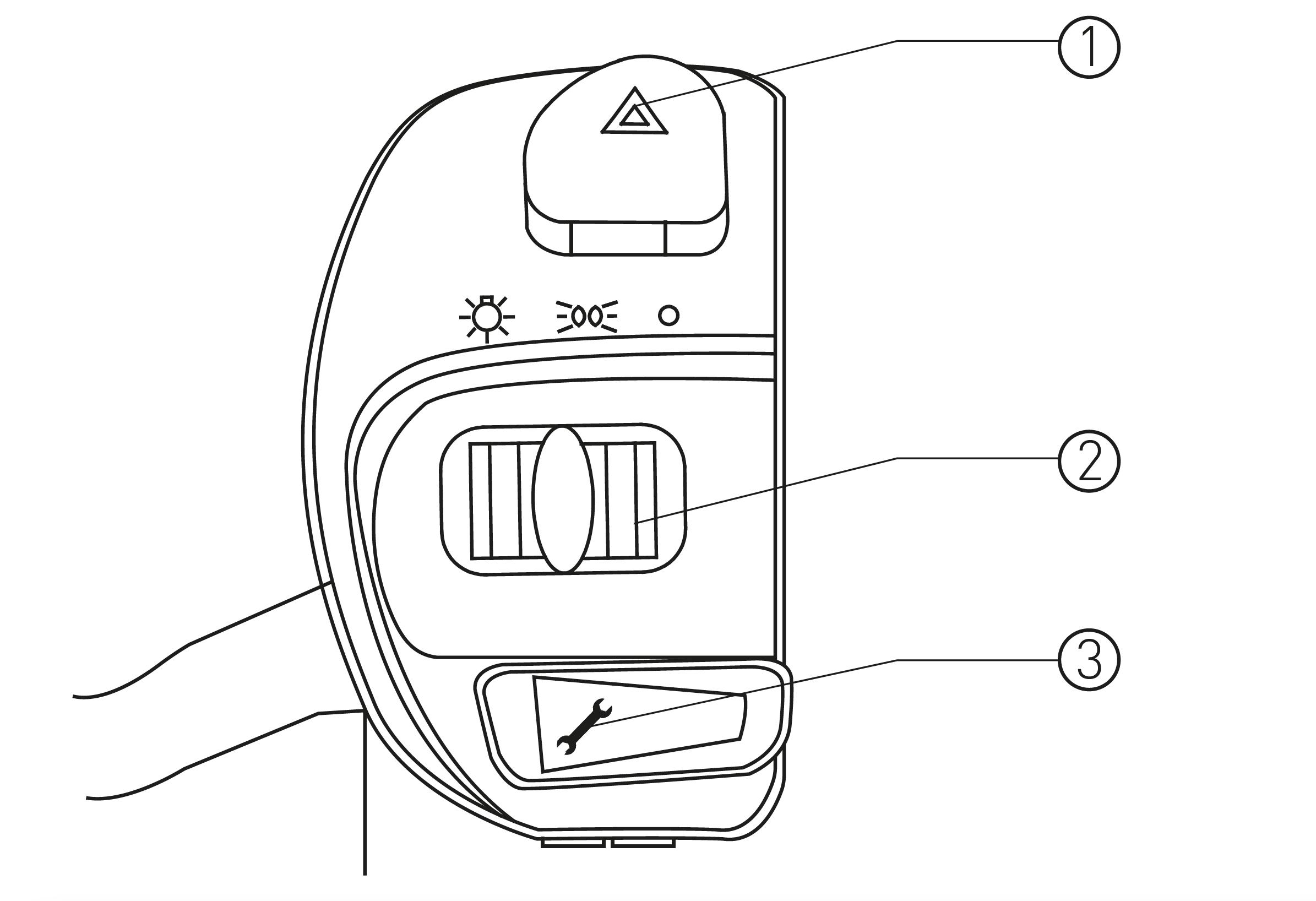 Rechte Armaturen des S6 max Elektro-Motorrollers von Nova Motors