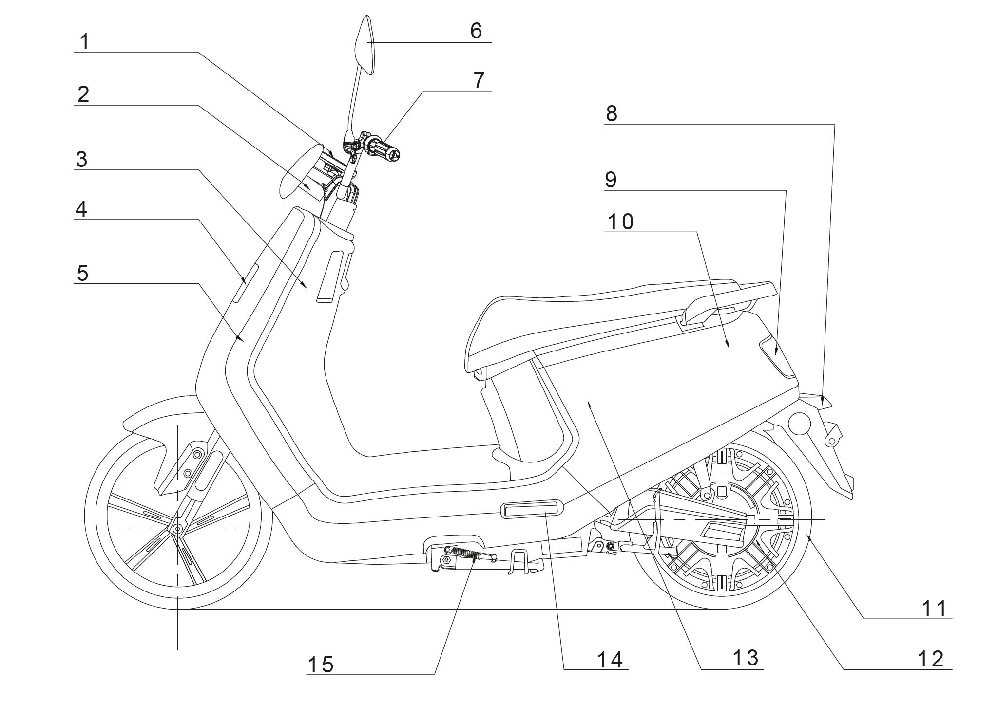 Der Inoa S8 max Elektro-Motorroller