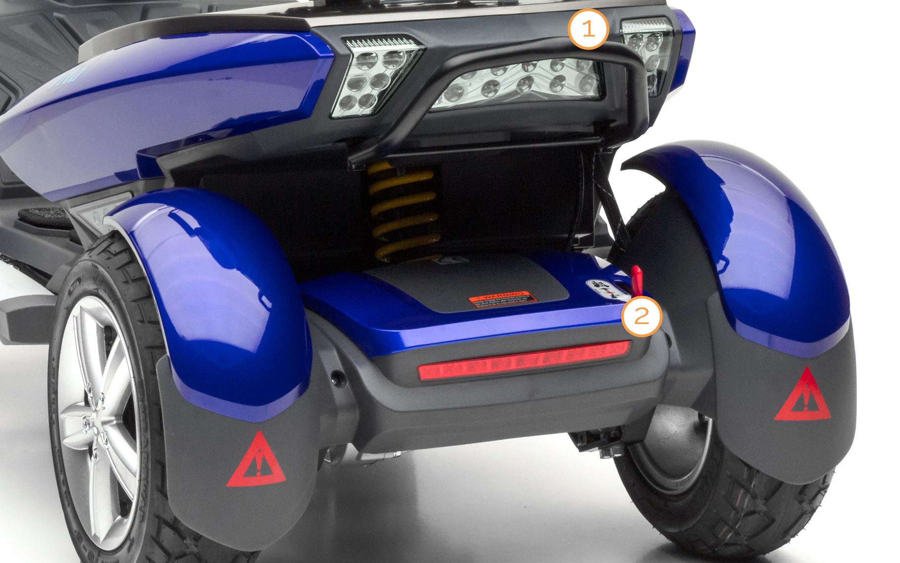 Feststellbremse des Nova Motors Vita erklärt