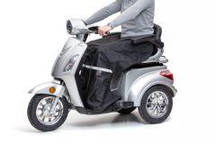 Beinschutzdecke mit Reflektorstreifen für Elektromobile in schwarz