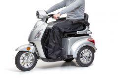 Beinschutzdecke für Elektromobile in schwarz mit Tasche