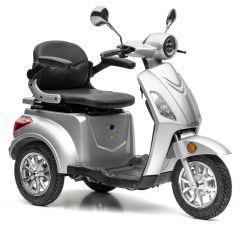 Nova Motors Bendi Premium zilver met draagbaar Accupack driewiel-scooter elektrische scootmobiel bejaardenmobiel - Model 2020