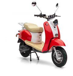 Der Nova Motors eRetro Star in cherry red nur für kurze Zeit mit kostenlosem Topcase