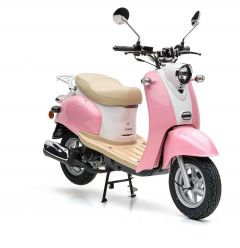 Nova Motors Retro Star 50 roze-wit - Model 2020