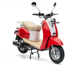 Nova Motors Retro Star 50 rood-wit - Model 2020
