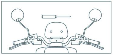 Die Spiegel des Nova Motors S4 Elektro-Motorrollers anbauen 3