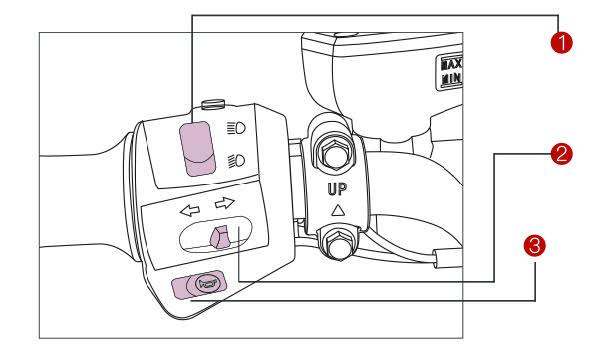 Linke Armaturen des S5 Elektro-Motorrollers von Nova Motors