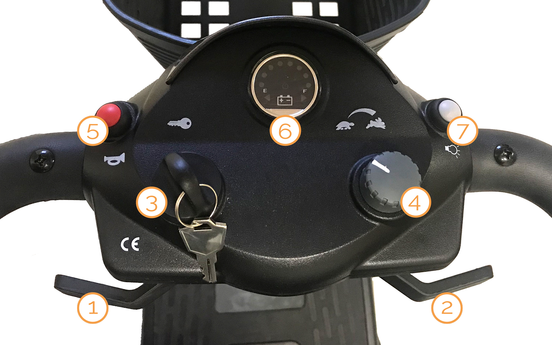 Lenk- und Steuereinheit des Nova Motors Kapitän Elektromobils